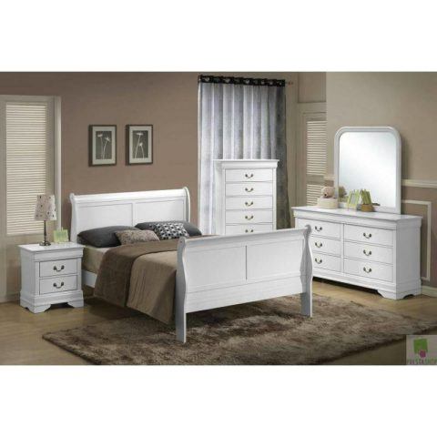 white queen size bedroom from louis phillipe collection by myco