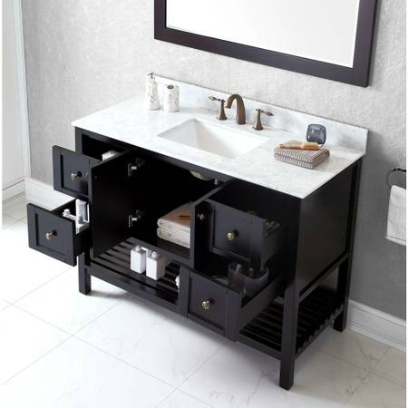 Winterfell Bathroom Vanity Virtu USA From Home Depot All Draws Are Opened  ...