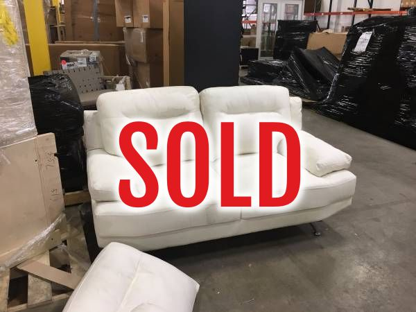 White Sofa And Loveseat SOLD