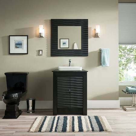 Bathroom Vanities Dfw vanity in black with granite white sink - $225 in dfw metroplex